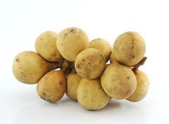 Lanzones fruit isolated on white background Stock Photos