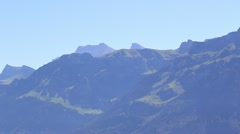 Mountaintops of Swiss Alps Stock Footage