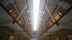 Prison jail cell tilt down - stock footage