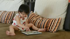 Playing tablet Stock Footage