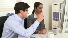 Business partners doing research - stock footage