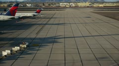 Airport with Bagage Car - 2 Stock Footage