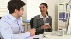 Business people talking - stock footage
