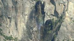 Yosemite 49 Rainbow Fall at Bridalveil Fall - stock footage