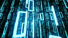Binary code technology digital data transfer. Database and storage. Stock Footage
