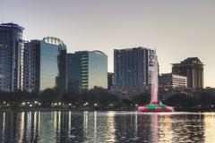 Lake Eola in Orlando - stock photo