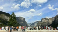 Yosemite 54 Crowds Tunnel View Stock Footage