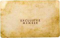 Exclusive Member - stock photo