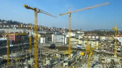 Germany Stuttgart construction site near Stuttgart 21 - stock footage