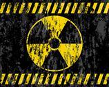 Grunge radiation sign background Stock Illustration