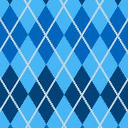 Realistic argyle fabric Stock Illustration