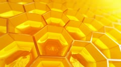 Honeycomb. Honey. Healthy Natural organic nutritious food. Stock Footage