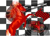 Race. abstract background Stock Illustration