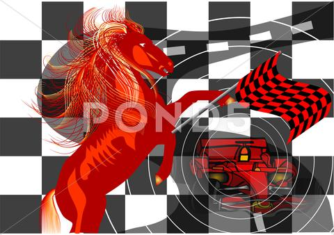 Stock Illustration of race. abstract background