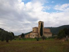 Sant'antimo abbey in tuscany Stock Photos