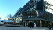 Stock Video Footage of Germany Stuttgart King Street shopping department store mall arcade