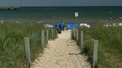 Baltic Sea Beach in Binz on Rügen Island - Northern Germany Stock Footage