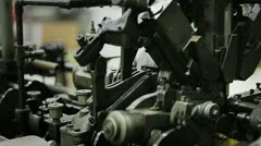 Old machine industrial Stock Footage