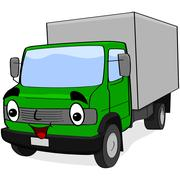 cartoon truck - stock illustration