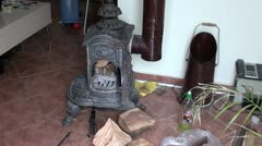 Antiques Turkish fireplace Stock Footage