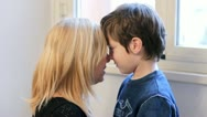 Stock Video Footage of mother and son