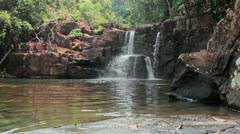 142 Klong Yai Kee Waterfall Stock Footage