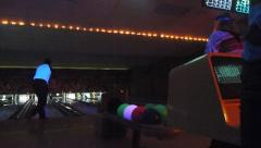 Night Bowling League Time Lapse - stock footage