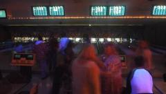 Stock Video Footage of Atomic Midnight Bowling Time Lapse