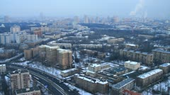 Panoramic view of Moscow city - stock footage