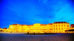 Stock Photo of schonbrunn palace in vienna in the evening