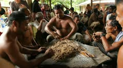 Making Sakau on Pohnpei Stock Footage
