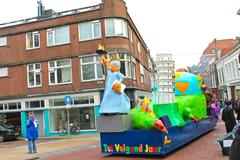annual winter carnival in gorinchem. february 9, 2013, the netherlands - stock photo