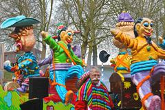 Annual winter carnival in gorinchem. february 9, 2013, the netherlands Stock Photos