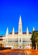 rathaus (city hall) in vienna - stock photo