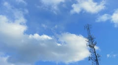 Clouds tower tl 1 Stock Footage