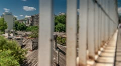 Bridge and Old City in Odessa Time Lapse HD Stock Footage