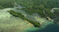 Aerial view of Nan Madol Ruins Stock Footage