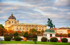monument dedicated to archduke charles of austria - stock photo