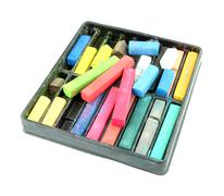 Multicolored artist's pastels (chalk) Stock Photos