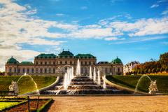 Belvedere palace in vienna, austria Stock Photos
