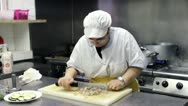 Stock Video Footage of chef at work