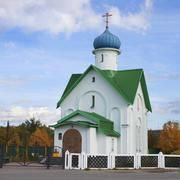 Temple of the Holy Monk Varlaam. Northern Russia - stock photo