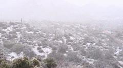 Southwest Desert Snow Stock Footage