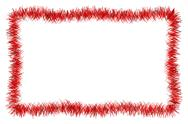 Christmas red tinsel frame Stock Illustration