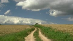 Rural Landscape in Mecklenburg - Northern Germany Stock Footage