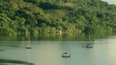 Beautiful Bay on the Island of Pohnpei Stock Footage