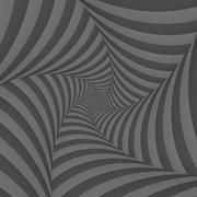 Monochrome Spiral - stock illustration