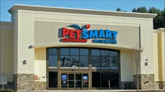 Pet Smart pet store loop Stock Footage