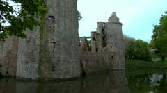 Chateau de la Hunaudaye - Pledeliac France Stock Footage