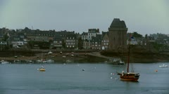 Solidor Tower - St. Malo France Stock Footage